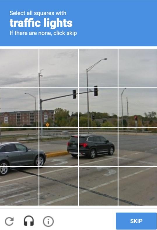 reCAPTCHA cars