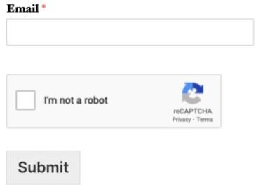 reCAPTCHA not a robot
